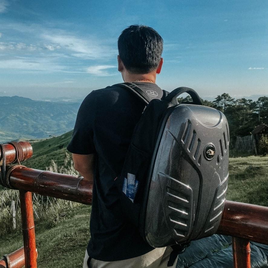 กระเป๋าเป้สไตล์ Biker รุ่น New Anglo สีดำ