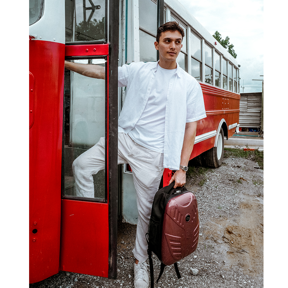 กระเป๋าเป้สไตล์ Biker รุ่น New Anglo สีแดง